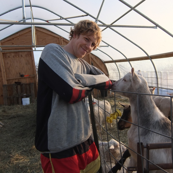 Peter and the goats
